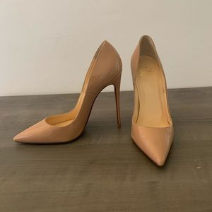 LOUBOUTIN So Kate Patent Pointed-Toe Red Sole Pump